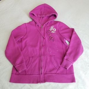 Sonoma Pink Hoodie with Flower Detail